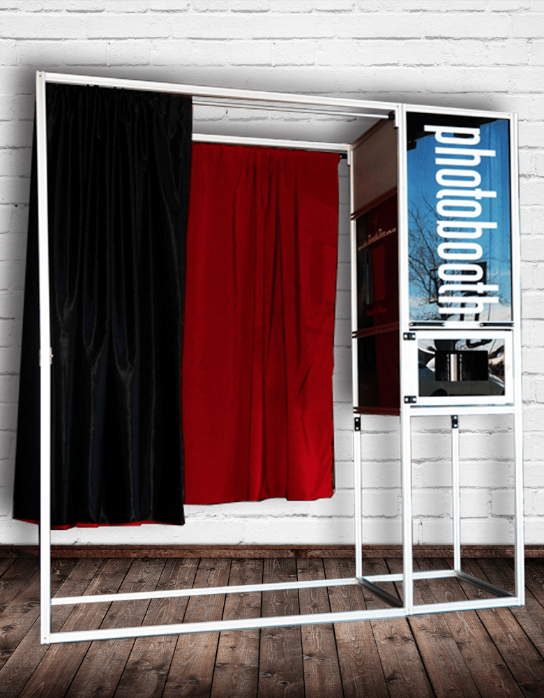 - Traditional box style booth - Sleek elegant look - Touchscreen monitor - Can fit up to 5 people - Suitable for intimate parties